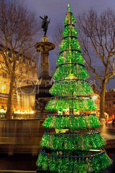 Fabrice Peltier's Used Plastic Bottles Christmas Tree 3