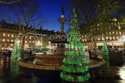 Fabrice Peltier's Used Plastic Bottles Christmas Tree 1